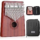 GECKO Kalimba 17 Keys Thumb Piano est équipé d'un boîtier de protection haute performance en EVA, d'un marteau de réglage et