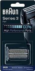Braun Elektrorasierer Ersatzscherfolie 30B, kompatibel mit SmartControl Rasierern, schwarz