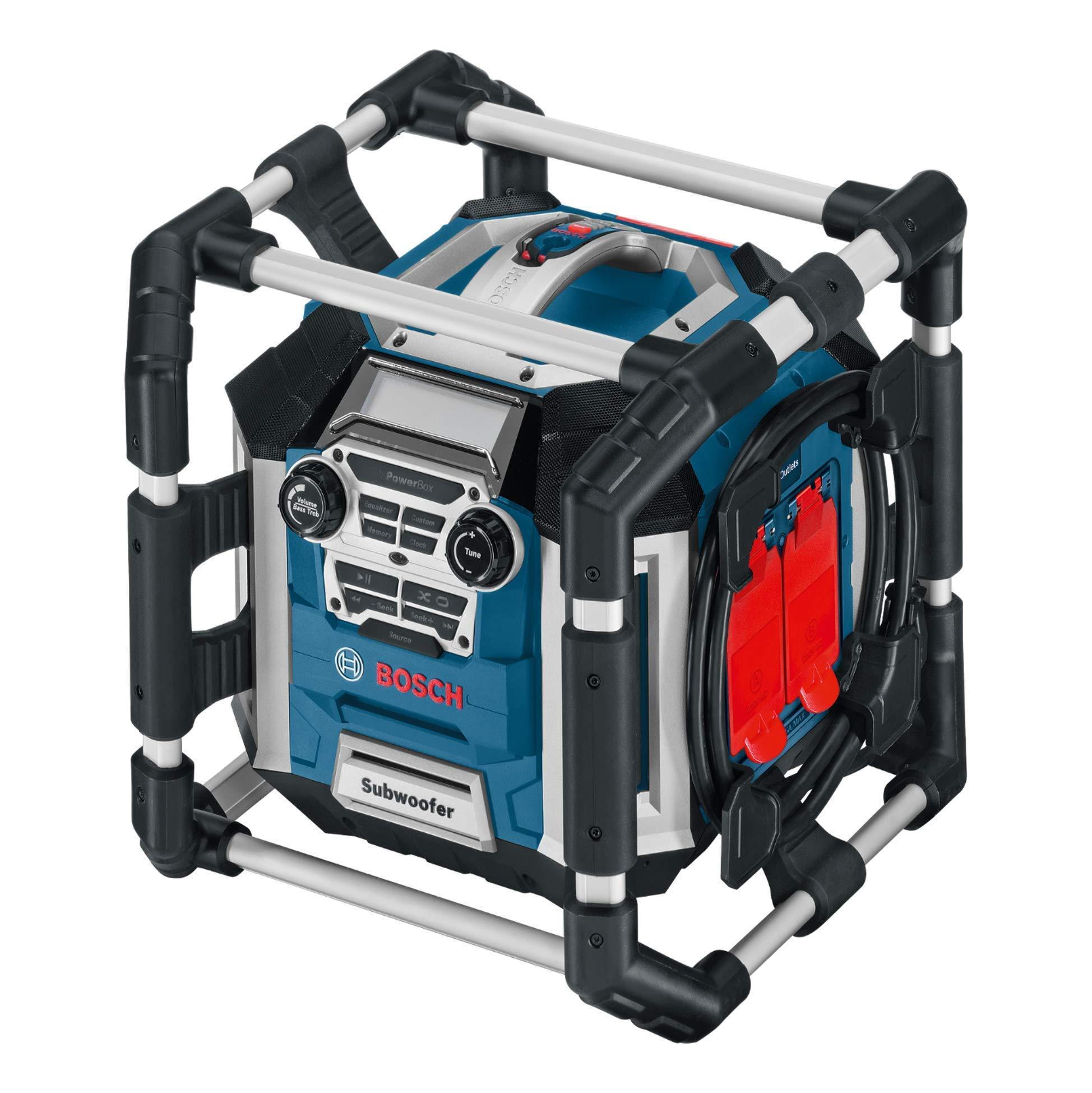 Bosch Professional GML 50 Akku Baustellenradio (50 Watt, USB, Aux-In, Fernbedienung)