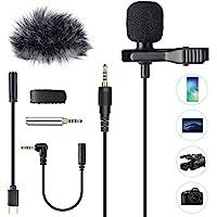 AGPTEK Lavaier Microfono per PC Smartphone con Clip e Un Parabrezza Incluso Adattatore Tipo-c Microfono Esterno Trust…