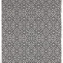 Equipo DRT Itylo Tela Dibujo Celosía Geométrica, Algodón, Negro, 1 metro