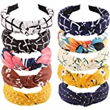 Dancepandas Hoofdbanden Vrouwen 10PCS Headbands Vintage Knot Turban Headband Printed Headband in 10 Verschillende Kleuren