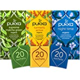 Pukka Day 2 Night Thee Bundel met Groene thee, Kurkuma en Lavendel - 60 zakjes - 3 smaken x 20 zakjes