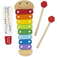 Melissa & Doug Caterpillar Xylophone (Musical Instruments, Rainbow-Colored, One Octave of Notes, Self-Storing Wooden Mallets)