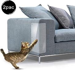 Chuanglan Kratzschutz für Katzen, transparent, mit Pins zum Schutz Ihrer Polstermöbel, 2 Stück