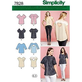 Burda Simplicity s7845.a Schnittmuster T-Shirt Papier weiß 21 x 15 ...