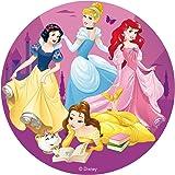 Dekora - 231363 Disque comestible pour Gâteau Sans Sucre de Princesses Disney 16 Centimètres