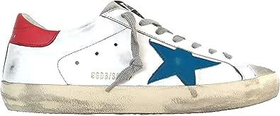 Golden Goose Sneakers Uomo Vintage Superstar G36MS590.T77 Bianco Blu Rosso