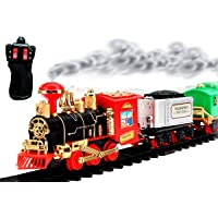 TOYMANIA AMAZING HIGH-SPEED MUSICAL CLASSIC REMOTE CONTROL TOY TRAIN TRACK SET FOR KIDS. | WITH REAL SMOKE EFECTS…