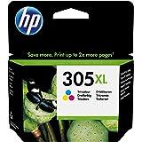 HP 305XL 3YM63AE Cartuccia Originale, da 200 Pagine, ad Alta Capacità, per Stampanti a Getto di Inchiostro HP DeskJet Serie 2