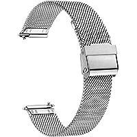 XIRUVE Cinturino per Orologio Sgancio Rapido In Acciaio Inox Maglia Donna Uomo 12-24mm