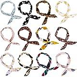Wodasi 12Pcs Bandeau Fil de Fer, Pliable Bunny Oreille Tie Bow Bandeau Wired Headbands, Bandeau en Fleur de Fer Noué Noeud de