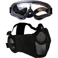 Fansport Paintball Maske, Airsoft Masken Softair Maske Mesh-Maske Airsoft Paintball Maske Schutzbrille Airsoft Taktische…