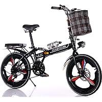 RDMSLKQ 20 Zoll Licht Aluminium-Faltrad-Klapprad Faltfahrrad-Herren-Damen 6 Gang Klappräder Cityrad Schnellklappsystem…