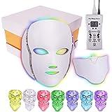 LED-masker 7 Kleuren Gezichtsfototherapie Masker En Nekmasker Behandeling Huidverjonging Fototherapie-instrument Schoonheid H