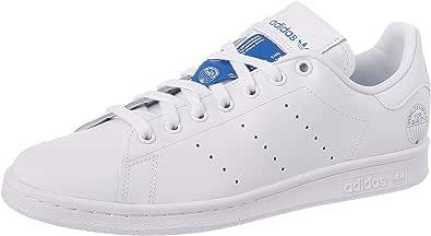 adidas Stan Smith, Scarpe da Ginnastica Uomo, Ftwr White/Ftwr White/Bluebird, 40 EU