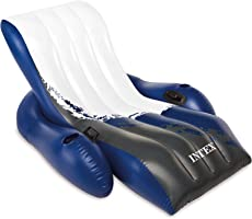 Intex Floating Recliner Lounge - Aufblasbarer Badelounge, mehrfarbig, 180 x 135 cm