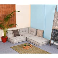 PRITI - Cotton Khadi Folding Lazy Sofa Pillow New Modular Sofa Floor Chair,Living Room Interior Home Decoration…