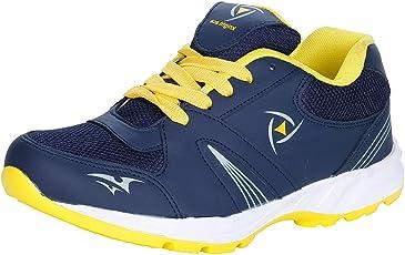 Kraasa Men's Navy Blue Synthetic Running Sports Shoes - 10 UK (7006)