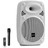 AUNA Pro Streetstar - Enceinte Bluetooth Mobile, Karaoké, Subwoofer, Micro UHF sans Fil, Solide boîtier en ABS, Poignées…