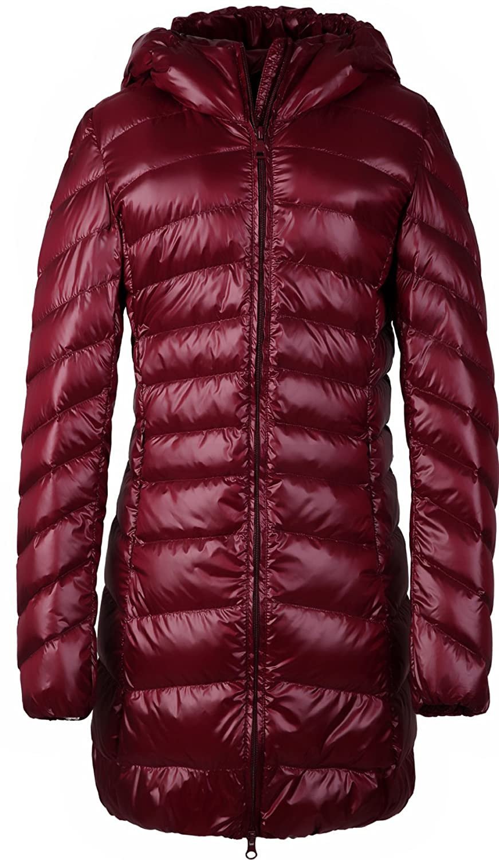 Santimon Womens Winter Outwear Packable Down Jacket Long ...