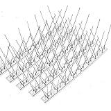 HellDoler Roestvrij stalen duivenafweer spikes, 15 verpakkingen ca. 5 m afdekking - roestvrijstalen vogelspikes voor hekvogel