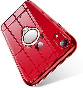 Bomizi Iphone Xr Hülle Klar Dünn Schutzhülle Weiche Silikon Tpu Case Handyhülle Mit 360 Grad Ring