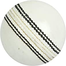 ABL Quality 4 Piece Plain White Leather Ball(Pack of 1)