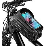 ROCKBROS Fietsframetas, Stuurtas, Waterdichte Gsm-tas met TPU-gevoelig Touchscreen voor Smartphones tot 6,8 inch Mountainbike