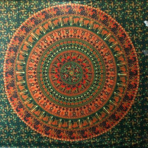 hippie Elefant Stickset, Motiv mandala Wandbehang Gobelin home decor Wandsticker grün