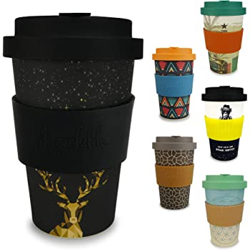 c572f2fa3a0 Morgenheld ☀ Your Trendy Bamboo Cup | Environmentally Friendly Coffee-to-Go-Cup|  Sustainable Coffee Cup with a Cool Design 400 ml Filling Quantity
