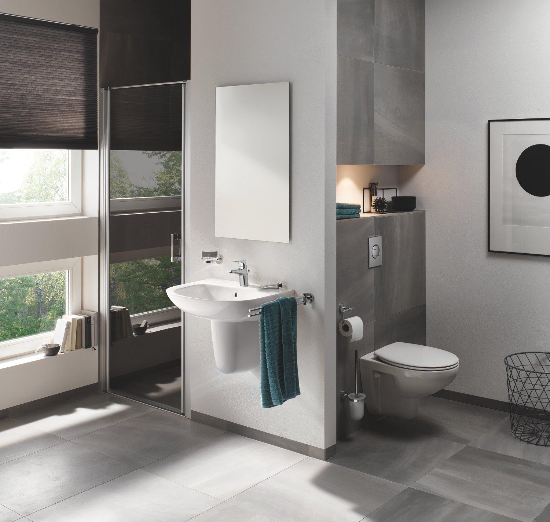 71E8J1GPQ2L - Grohe Solido Diseño cerámica | WC-Solido 4in1con-Diseño de borde cerámica inodoro, 3-6l, 1, 13m, 39418000
