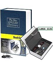 Appigo Dictionary Book Steel Tall Dictionary Book Safe Hidden Vault with Keys for Home