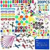 nicknack Bulkparty väska fyllnadsleksaker för barn, 200 st födelsedagslotväska fyllmedel, festspelspriser, skolbelöningar gåv