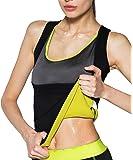 IFLOVE Gilet de Sudation pour Femme Fitness T Shirt Débardeur Minceur Perte du Poids Sauna Compression Body Shaper