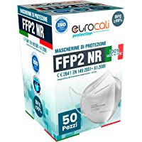 Eurocali 50 Mascherine FFP2 Certificate CE Italia Adulti | BFE ≥99% | Mascherina ffp2 SANIFICATA e sigillata…