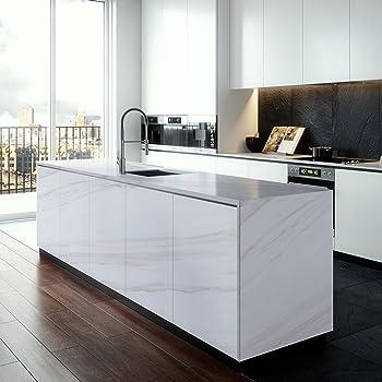 Attraktiv KINLO 0.61 X 5 M Aufkleber Küchenschränke Selbstklebende PVC Tapeten Möbel  Schrank Einfach Zu Kleben Wasserfest