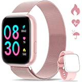 WWDOLL Smartwatch, Orologio Fitness Tracker Impermeabile da 1,4 pollici Cardiofrequenzimetro da Polso Pressione Sanguigna Con