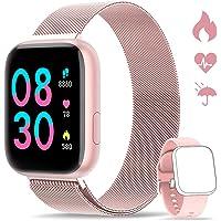WWDOLL Smartwatch, Orologio Fitness Tracker Impermeabile da 1,4 pollici Cardiofrequenzimetro da Polso Pressione…