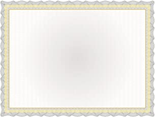 "Great Papers! Twisty Graph Black and Gold Foil Certificate, 8.5"" x 11"", 15 Count (2013307)"