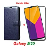 Goelectro Samsung Galaxy M20 / Galaxy M20 Leather Dairy Flip Case Stand with Magnetic Closure & Card Holder Cover + 2.5D...