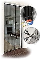 JAROLIFT Fliegengitter Magnetvorhang für Türen 160 x 230cm, schwarz, individuell kürzbar (Höhe und Breite)