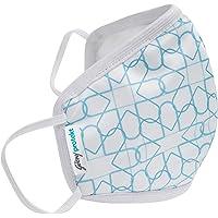 Godrej Protekt P-W95 Reusable Face Mask | for Children | 6 Layer Germ Shield Technology | Design: White Aqua | Size…