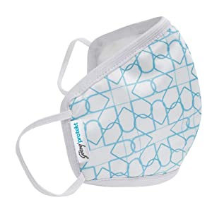 Godrej Protekt P-W95 Reusable Face Mask | for Children | 6 Layer Germ Shield Technology | Design: White Aqua | Size: SMALL