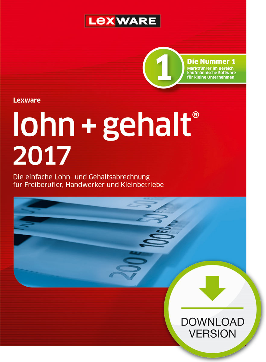 Lexware lohn+gehalt 2017 Download Jahresversion (365-Tage) [Download]