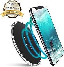 VANMASS Fast Wirelss Charger Qi Wireless Ladegerät Induktive Ladestation für Samsung Galaxy S9, S9 Plus, S8, S8 Plus, Note 8, iPhone X, iPhone 8, iPhone 8 Plus