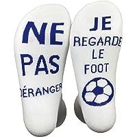 Funny Socks Chausettes Drôle Si Tu vois ça,Apporte Moi Une Bière Les Chausettes Cotton écrivent en Française Thick Socks…