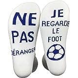 Funny Socks Chausettes Drôle Si Tu vois ça,Apporte Moi Une Bière Les Chausettes Cotton écrivent en Française Thick Socks Pour
