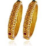 YouBella Bangles for Women Stylish Traditional Casual Party Original Hand Work Bangles for Women and Girls