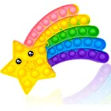 Cykapu Bubble Poppet Fidget Toy, Silicone Rainbow Meteor Push Pop Fidget Sensory Toy, Popping Fidget Stress Autism Relief Toy